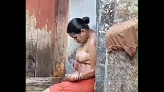 Indian big boobs village bhabhi naked sex in bathroom