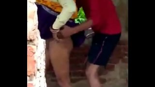Rajasthani naughty village bhabhi first time outdoor sex with young devar