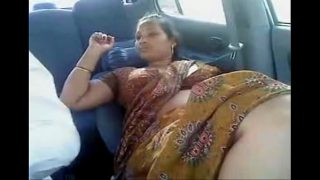 South indian aunty fucked hard by her boyfriend sex in car with saree
