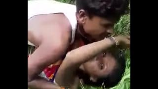 Brand new desi outdoor sex scandal clip of young village girl