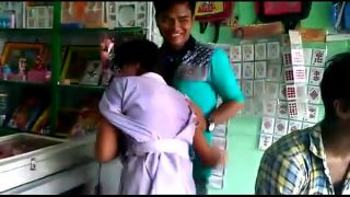 Bangladesi school girl hot kissing in the shop