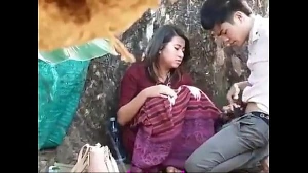 Nepali college girl outdoor blowjob and big boobs press with lover