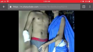 Very hot sexy indian bhabhi xxx in blue saree get fucked hard by lover
