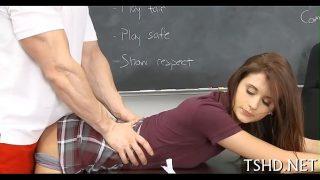 Amateur teen petite schoolgirl in uniform fucked hard by teacher xxx sex video